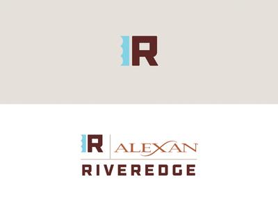 Riveredge Unused Logo Concept real estate design district river water apartment dallas