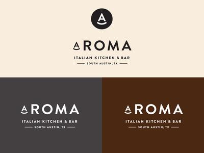Aroma Logo wood-fired pizza neopolitan pizza italian identity pizza logo