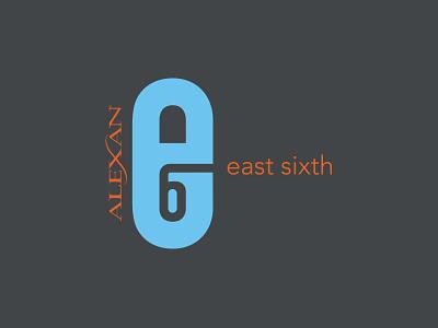 Alexan E6 Logo east austin austin logo branding apartments real estate