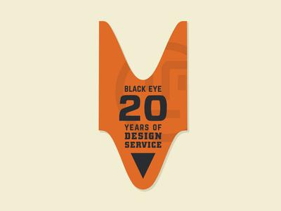 Black Eye 20th Anniversary Graphics WIP logo design orange ticket service anniversary wip identity design