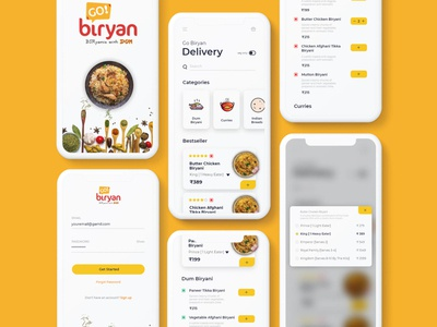 A concept for GoBiryan restaurant design india ui design illustration ui  ux ui