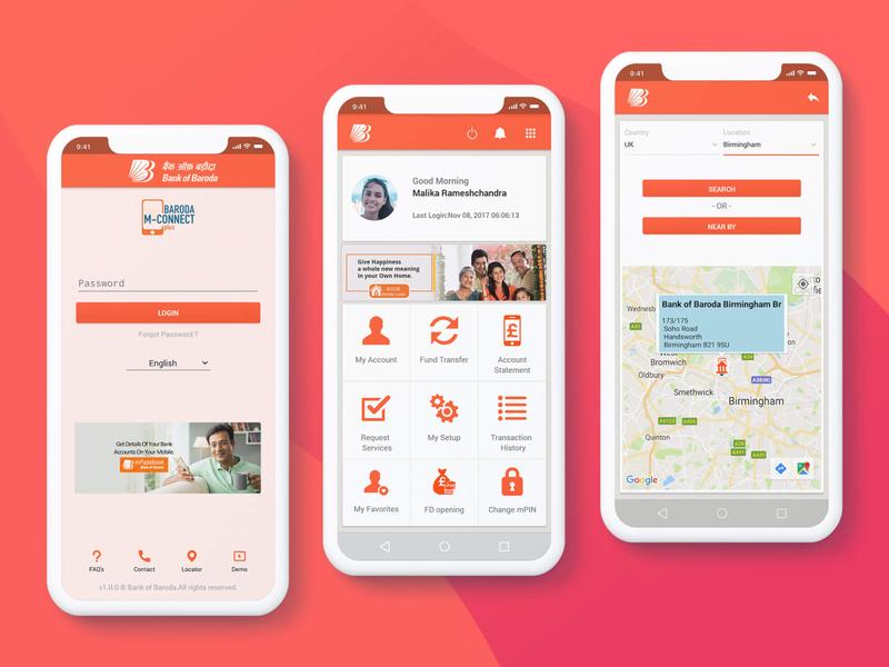 M-Connect Plus mobile ui mobile app design india ui design design ui  ux