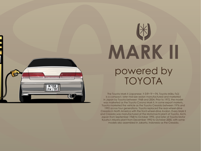TOYOTA MARK II toyota car logo branding graphic design