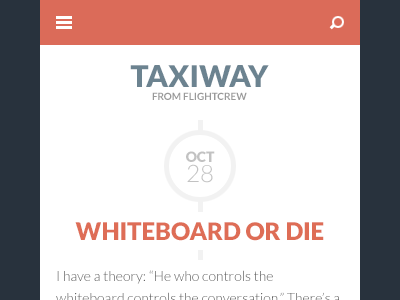 Taxiway post mobile dribbble