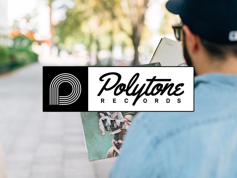 Polytone Full Lockup music vinyl polytone records identity marl logotype lockup logo branding