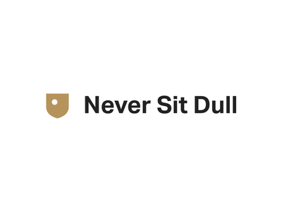 Never Sit Dull - Personal Branding mark logo identity gold crest grotesk dull sit never personal brand