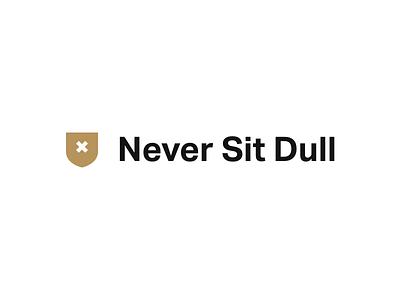 Never Sit Dull - Personal Branding v2 gold crest brand never dull sit x grotesk mark logo identity branding