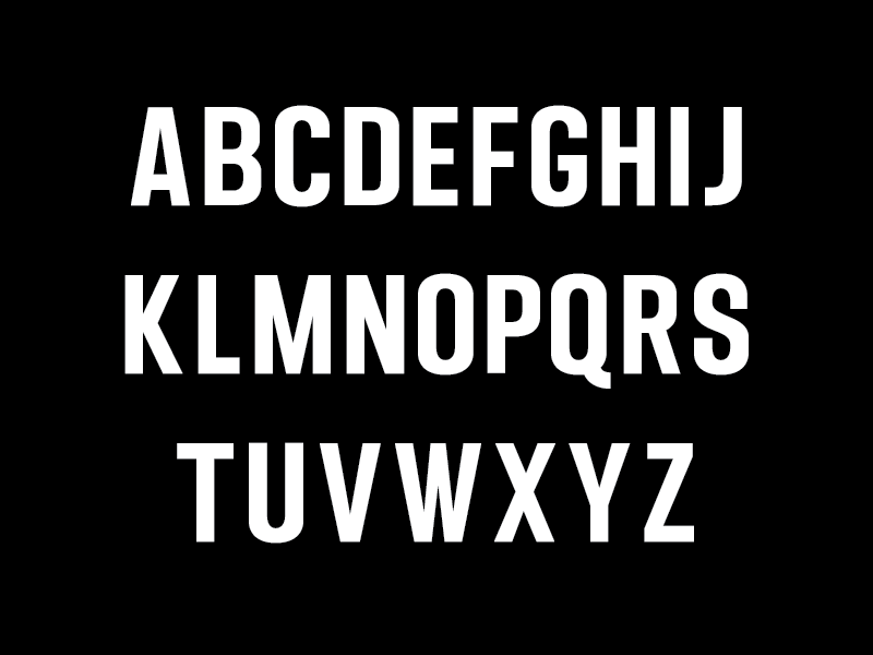 New Typeface - All Caps gothic geometric sans glyphs font characters letters type design typography type typeface