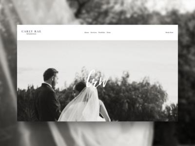 CRW - Site branding page landing squarespace events weddings homepage website site