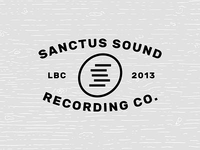 Sanctus Sound Recording Co. - Branding audio long beach wood recording bars sans music leather identity logo branding