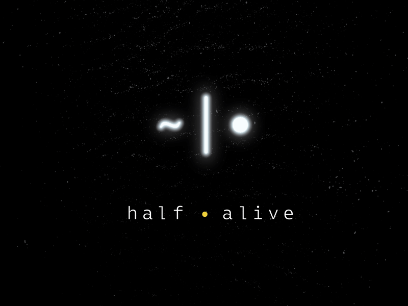half•alive - Album Artwork band snake mark monospace branding music artwork album