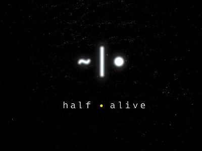 half•alive - Album Artwork band snake mark monospace branding music artwork album
