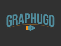 Graphugo logo horizontal logo illustration design creation graphics