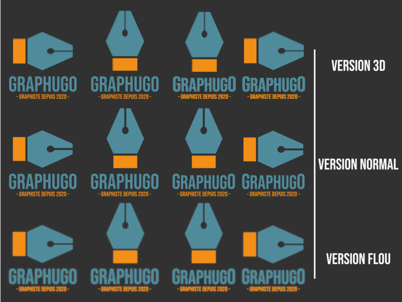 Logo Graphugo (Première planche) icon typography vector branding logo effects design creation graphics