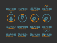 Deuxième planche de logo Graphugo dessin icon typography vector branding logo design creation graphics
