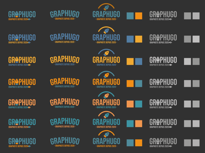 Logo Graphugo test couleur test couleur icon typography vector branding logo design creation graphics
