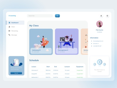 E Learning dashboard app 3d iconography design dashboard design e-learning dashboard ui dashboad icon vector website webdesign minimal typography branding app web ui ux