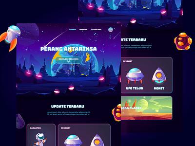 Game games gamer colorful illustration art planet plane game website icon illustration vector design typography webdesign web ux ui