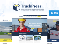 TruckPress Psd For Logistic & Transport Business in Process