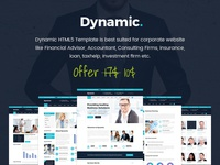 Dynamic - Consulting, Finance, Business HTML5 Template
