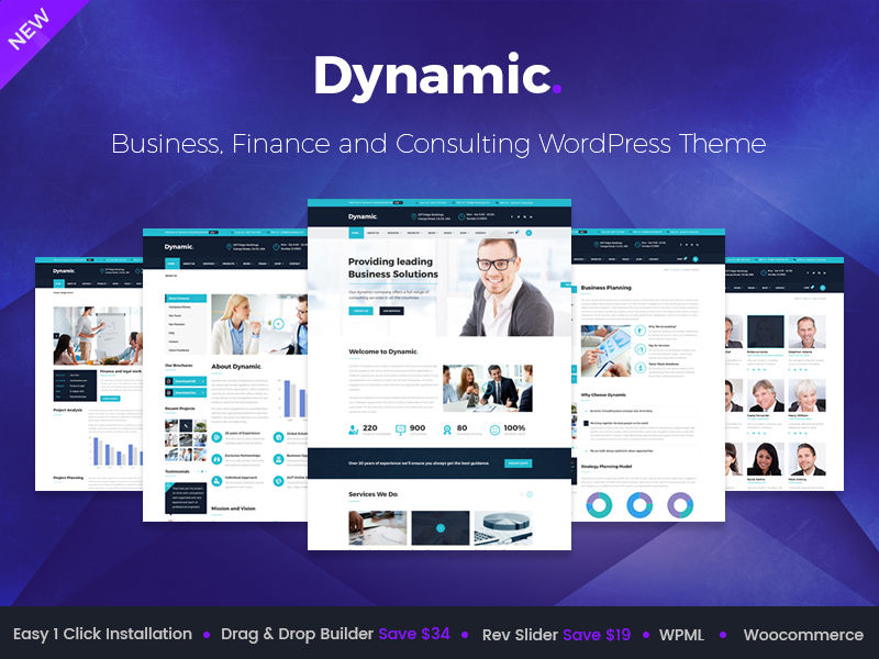 Dynamic - Finance and Consulting Business WordPress Theme by ...
