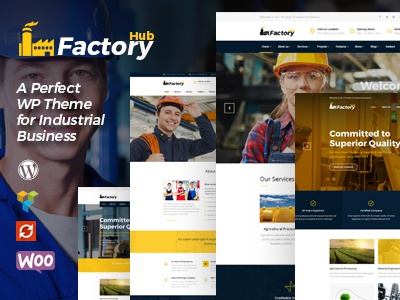 Factory HUB - Industry and Industrial Business WordPress