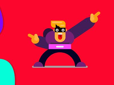 Superhero -Shazam adobe xd gravit designer illustration