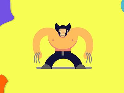Wolverine gravit designer illustration adobe xd