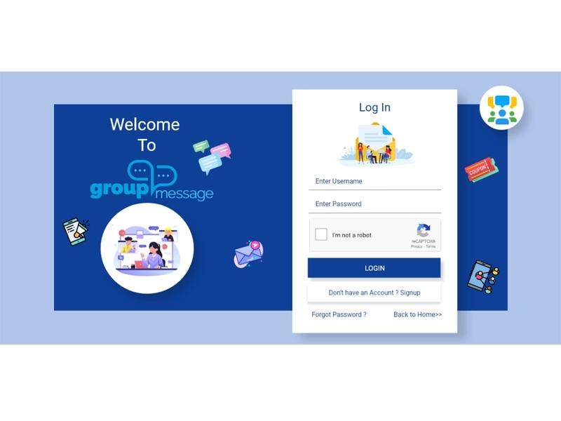 chat Login screen web ux ui design mobile login web login icons login sms group message group chat