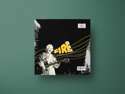 'Fire' record cover graphic design