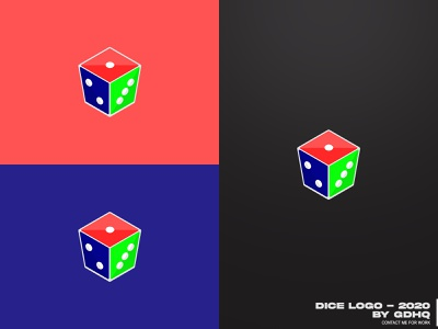 DICE LOGO mascotlogo mascot dice logo dice app vector illustration logomark logo illustrator icon design branding