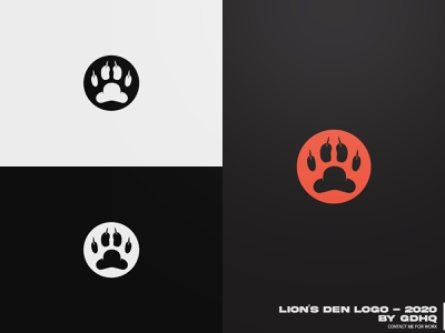LION S DEN LOGO lion illustration vector logomark logo illustrator icon design branding