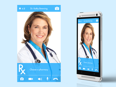 Flat mobile app video call UI docchat ios android mobile video call ui flat iphone