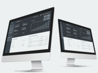 UI - Dashboard with financial metrics, detailed wireframe