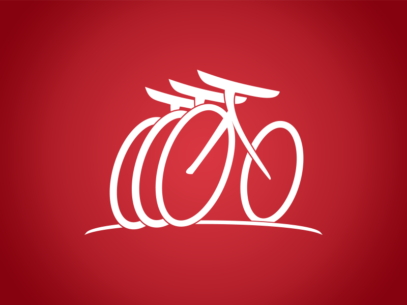 Logo concept graphic logo bike concept