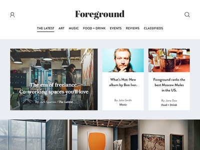 Digital Magazine Concept web design web typography branding