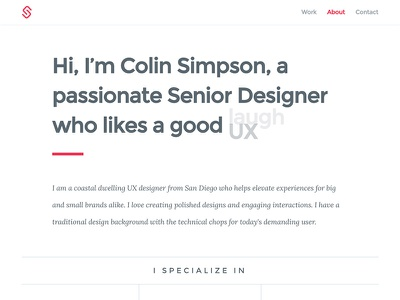 Portfolio About Detail webdesign typography clean design ux about portfolio