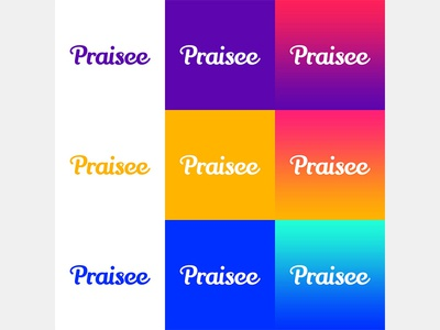 Praisee Branding Color Lockups graphic design logo design process startup variations color branding