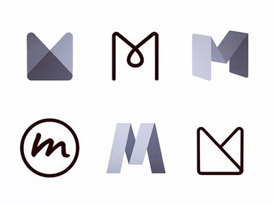Logo Mark Explorations exploration grayscale mark graphic design logo branding