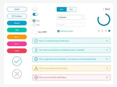 UI Pattern Library colorful design web ui ux
