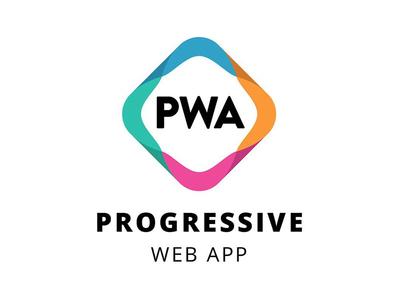 Progressive Web App Logo graphic design startup tech branding logo