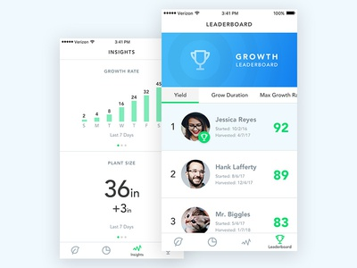 Growpods Mobile App ios mobile app ui ux