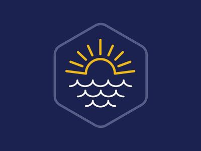 Sun over the Sea graphic design illustrator vector badge graphic design illustration