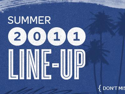 Summer Lineup web design website blue white grunge texture summer