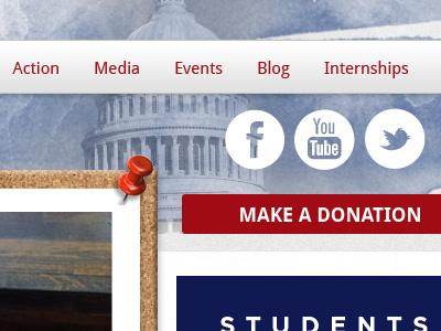 Campus Student Political Website web design website web blog wordpress election