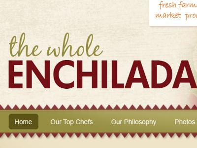 The Whole Enchilada Website Template texture navigation web design green