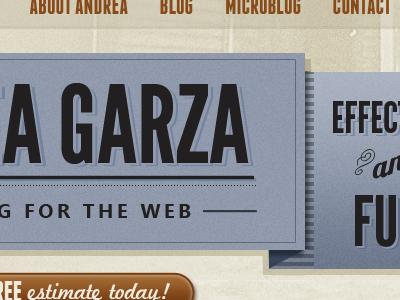 Personal Site Redesign Idea vintage texture web design typography blue