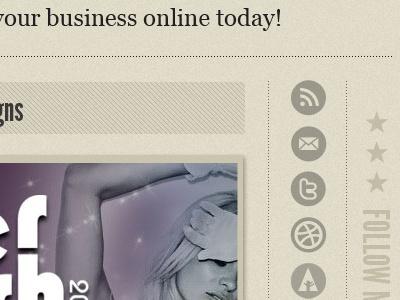 Personal Site Redesign (more) icon stars texture web design subtle