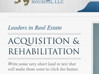 Real Estate Acquisition Website In Progress