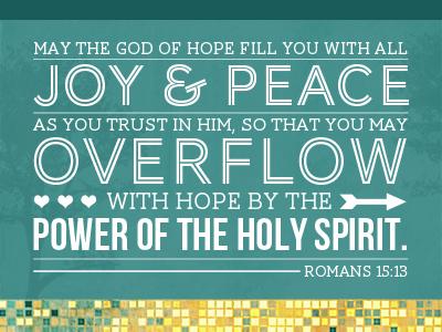 Romans 15:13 Visual Scripture christian christmas typography texture web design